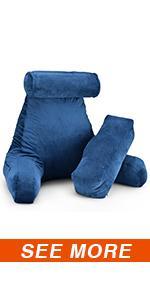 reading pillow with leg pillow