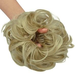 curly hair bun updos hair bun hair pieces for women fake hair scrunchie hair buns for women
