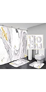 Marble Shower Curtain Sets