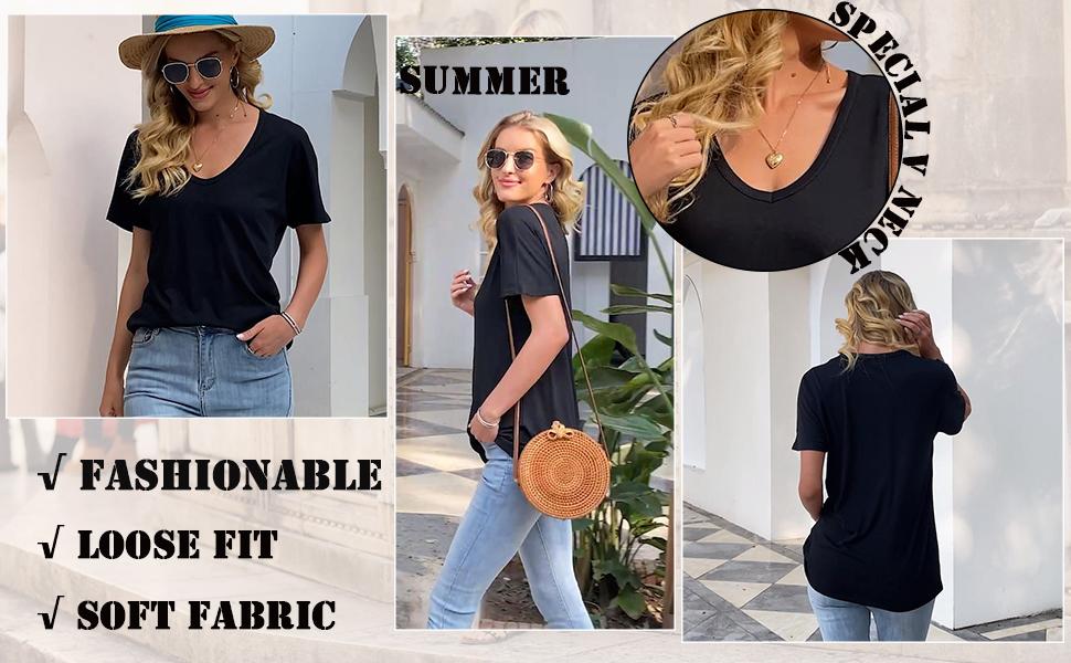V neck summer clothes