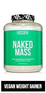 vegan weight gainer, vegan mass gainer, vegan naked mass