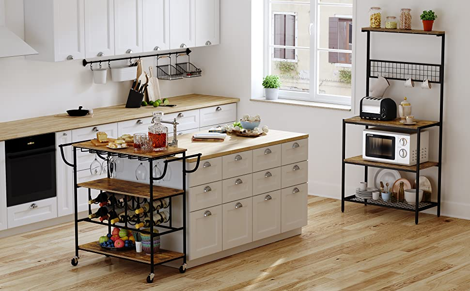 Gadroad Industrial Kitchen Bakers Rack