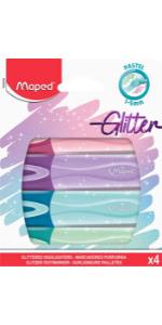 Surligneurs Pastel Glitter