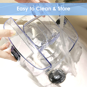 easy to clean and store