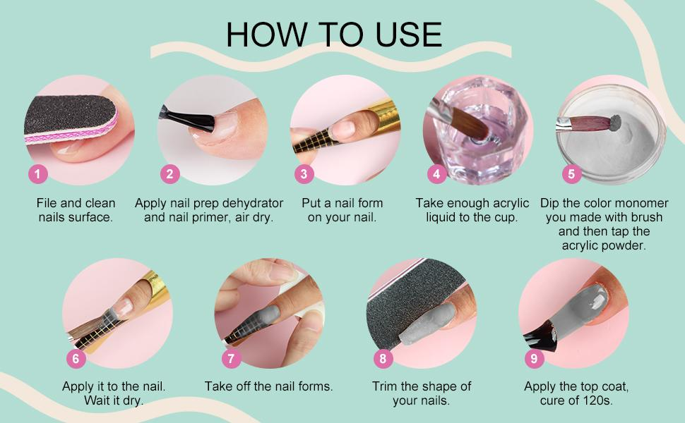 color acrylic powder for nails