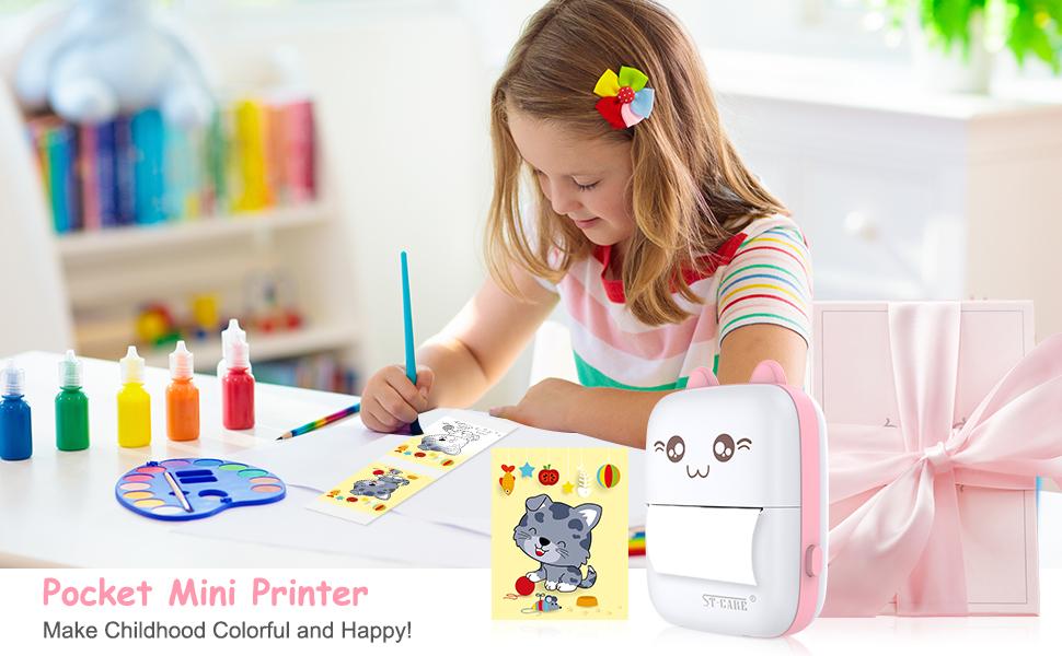 Pocket Mini Printer thermal sticker impresora machine maker bluetooth pocket label termica wireless
