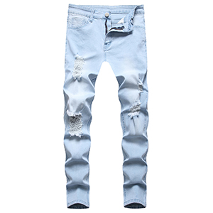 jeans for men moto skinny ripped denim slim fit casual distressed pants stretch comfy design holes