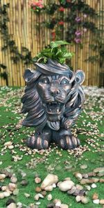 lion flower planter pot