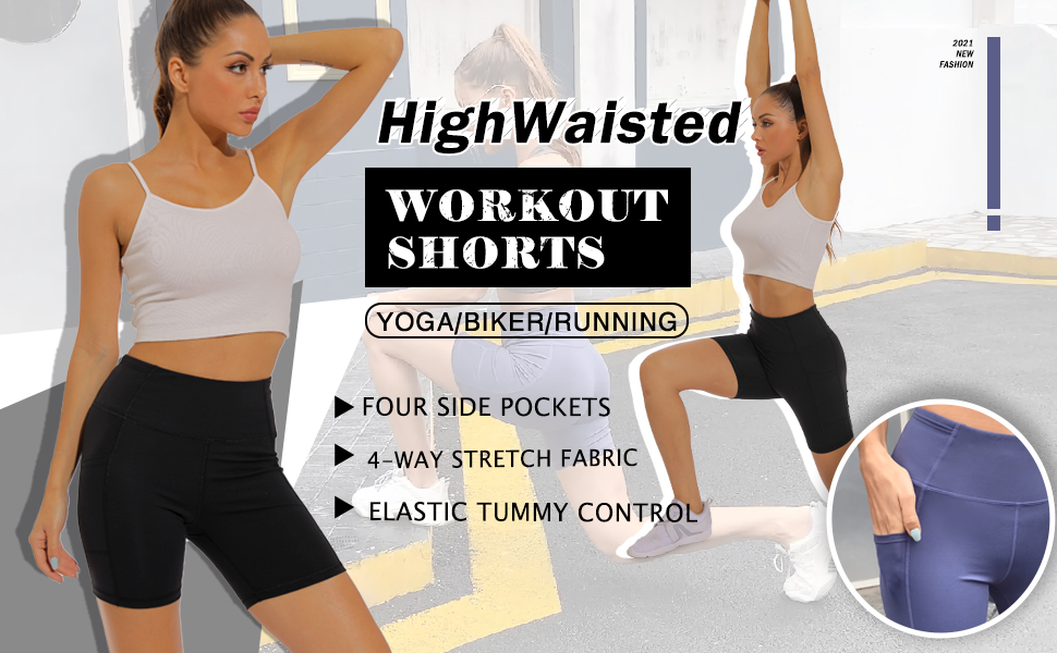 high waisted shorts for women