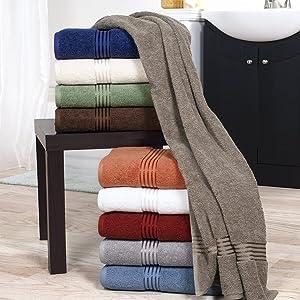 Lavish Home 100% Cotton Hotel 6 Piece Towel Set