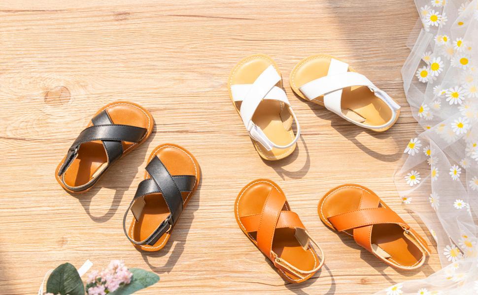 Felix amp;amp; Flora Girls Sandals - Toddler Girl Dress Shoes Size 6-12 for Summer Party Wedding Flats.