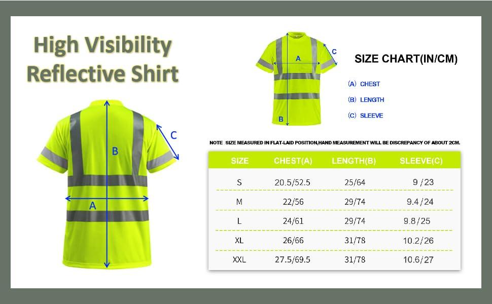 yellow high visibility shirt