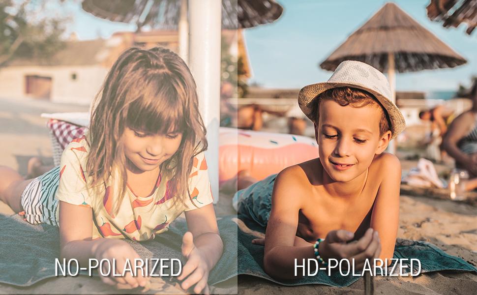 Polarization effect comparison