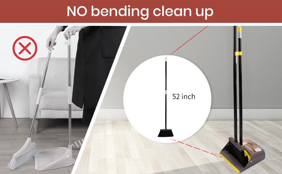 Broom and dustpan long handle