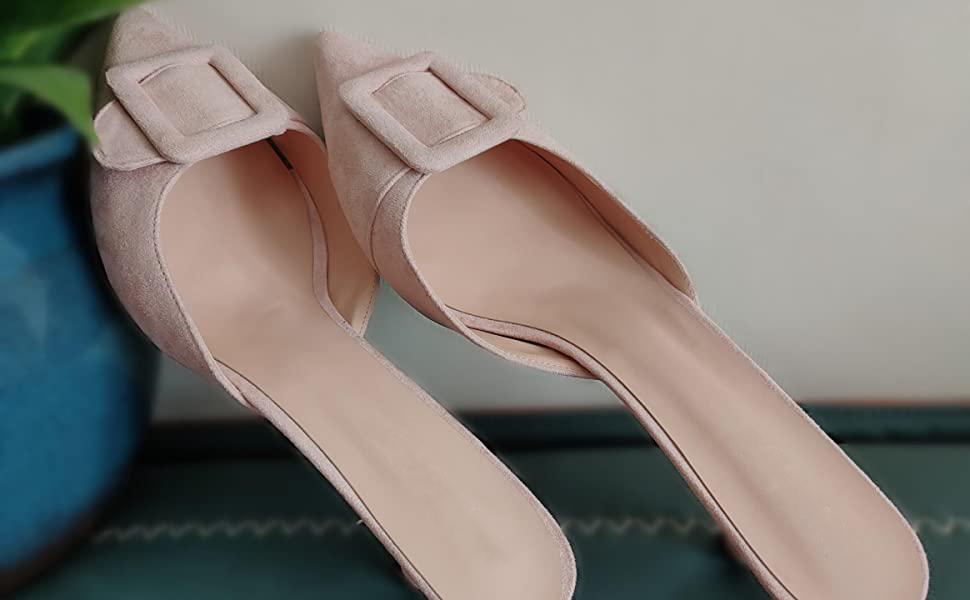 Fericzot Nude kitten heels
