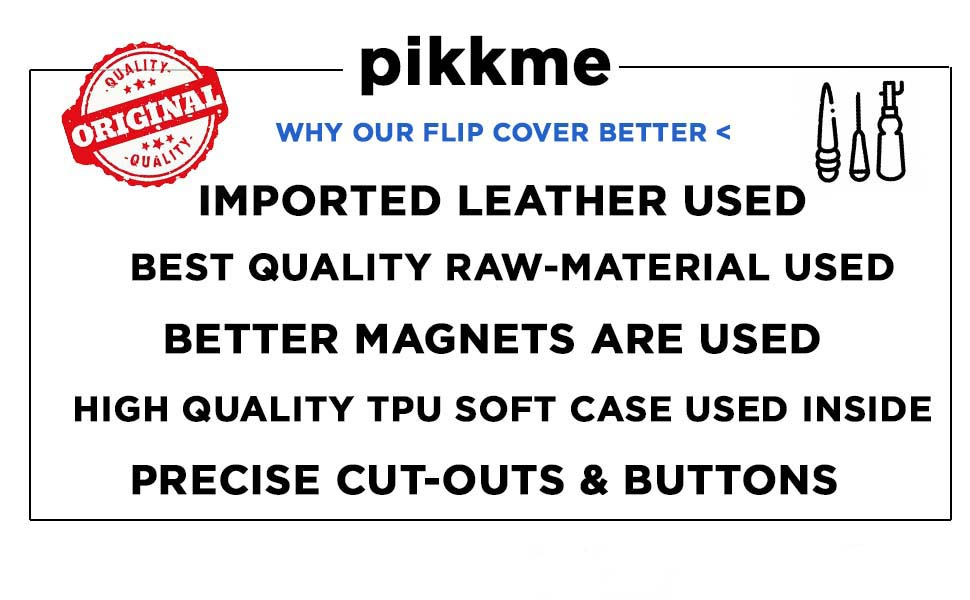 Pikkme Leather Flip Cover Features