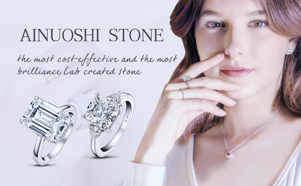 AINUOSHI ring necklace earring for women
