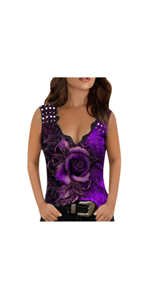 Womens Loose Fit Fashion Tank Tops