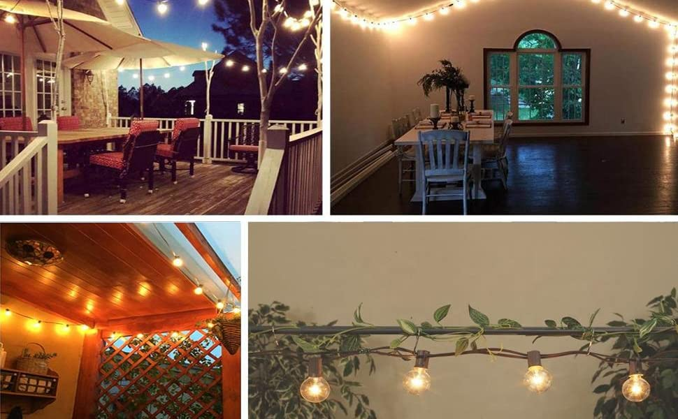Ideal for indoor or outdoor patio,deck, porch, holiday decorative lighting, fence, etc