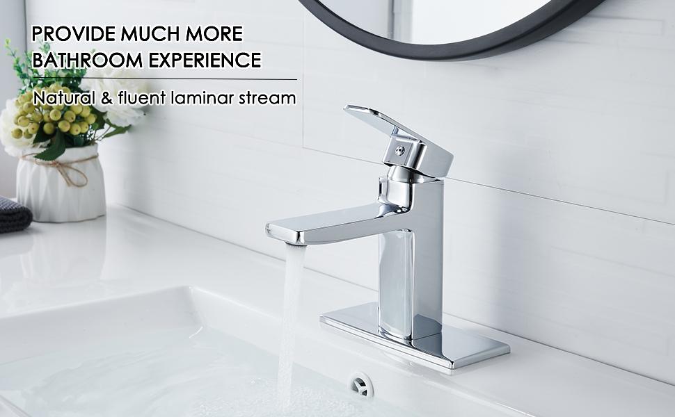 bathroom sink faucet chrome