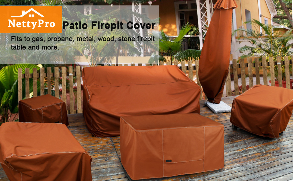 Rectangular fire pit cover