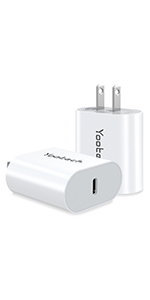 USB C Charger Block 2pack