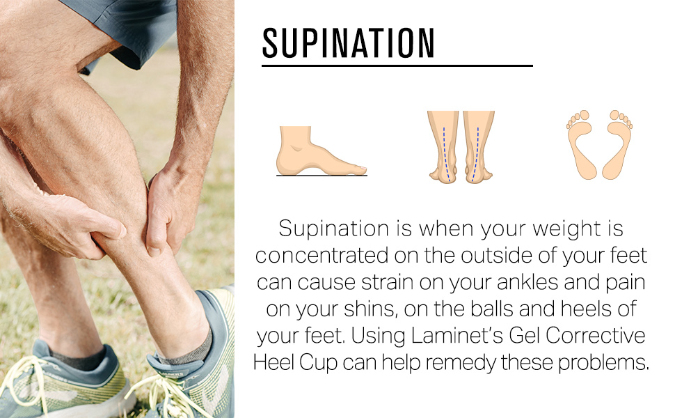 Supination is when your weight is concentrated on the outside.