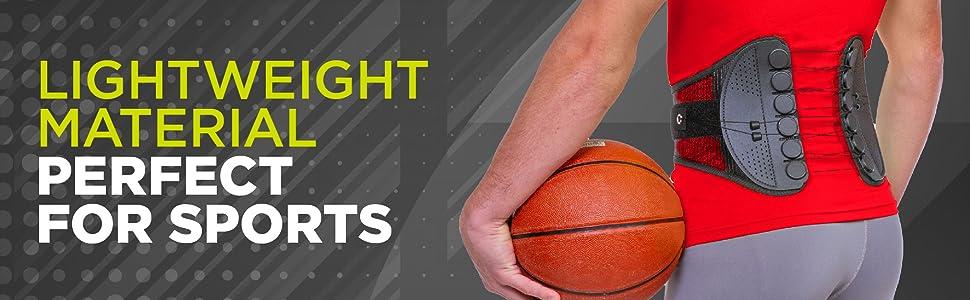 lightweight sports back brace