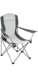 KingCamp Folding Chair Lightweight Padded Quad Rod Portable Chair with Cup Holder amp; Carry Bag