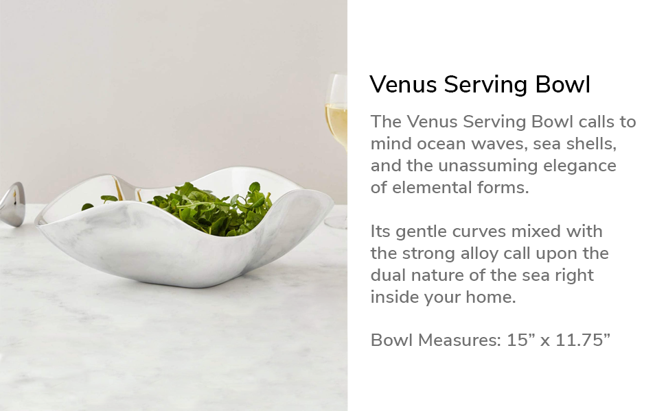 venus serving bowl