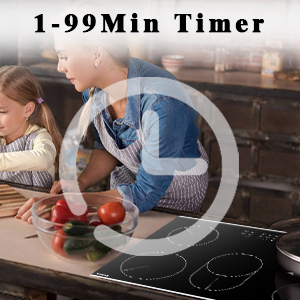 cooktop with timer