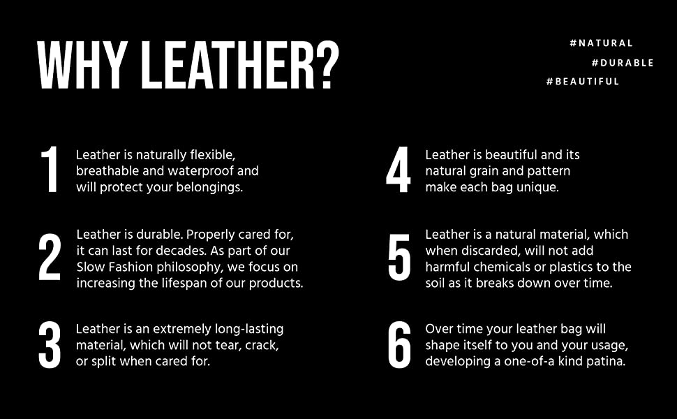 Berliner Bags Why We use leather