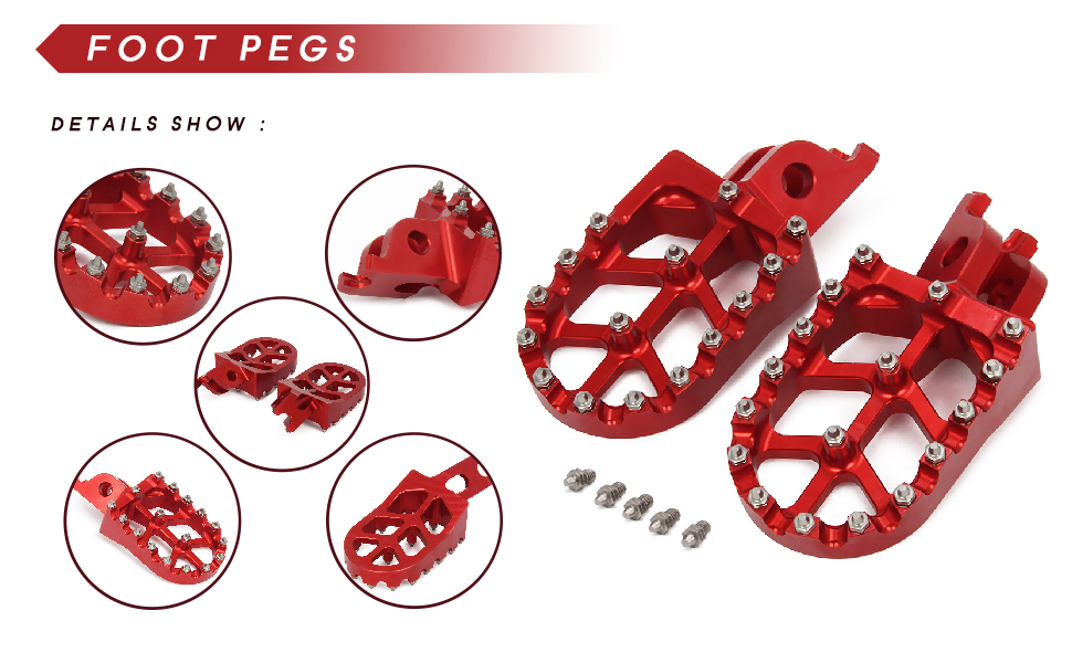 Wide Foot Pegs Pedals Rests
