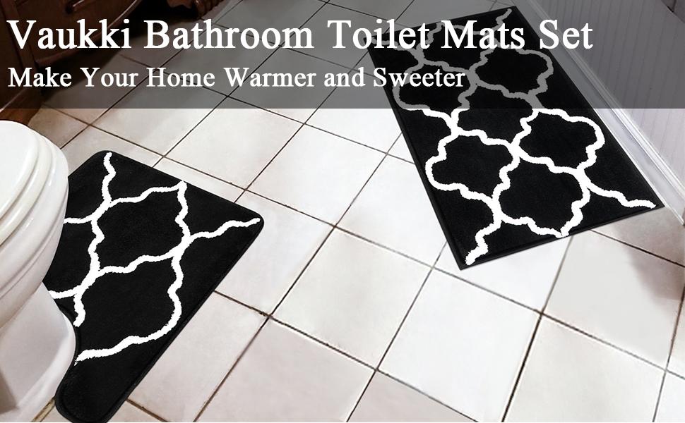 bathroom mats set of 2