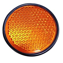 Reflex Reflector Amber With Black Outer