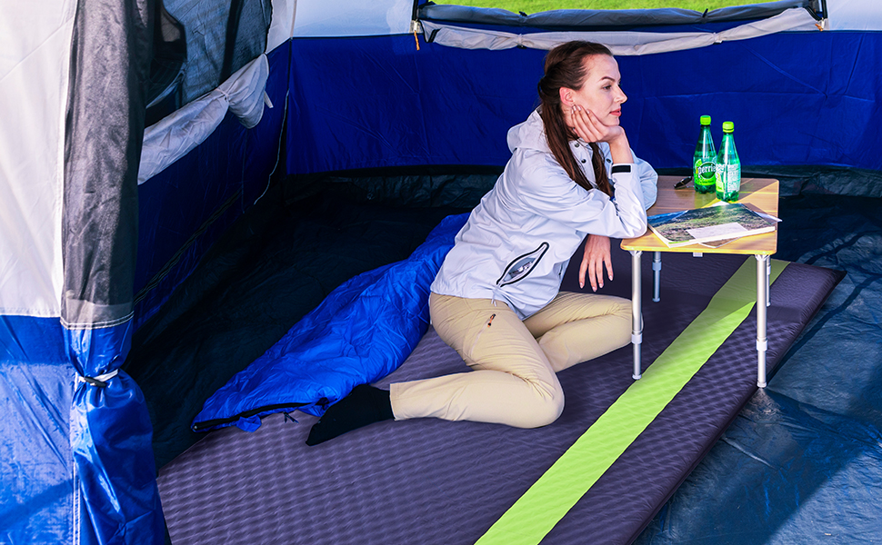 Double Self Inflating Sleeping Pad with pillow