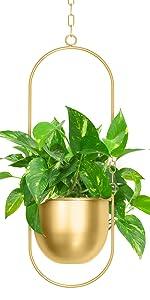 Hanging Planters-Metal Plant Hanger, Simple Modern Planter