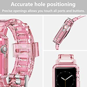 Accurate hole positioning for apple watch band 42mm 44mm