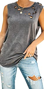 Ripped Distressed Tank Top