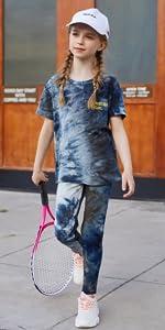 Kid Girls Short Sleeve Casual Pant Set