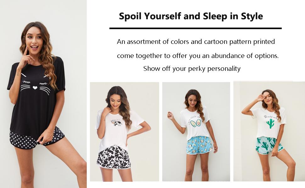 plaid pajamas set for women