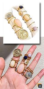 Vintage Crystal  Rings