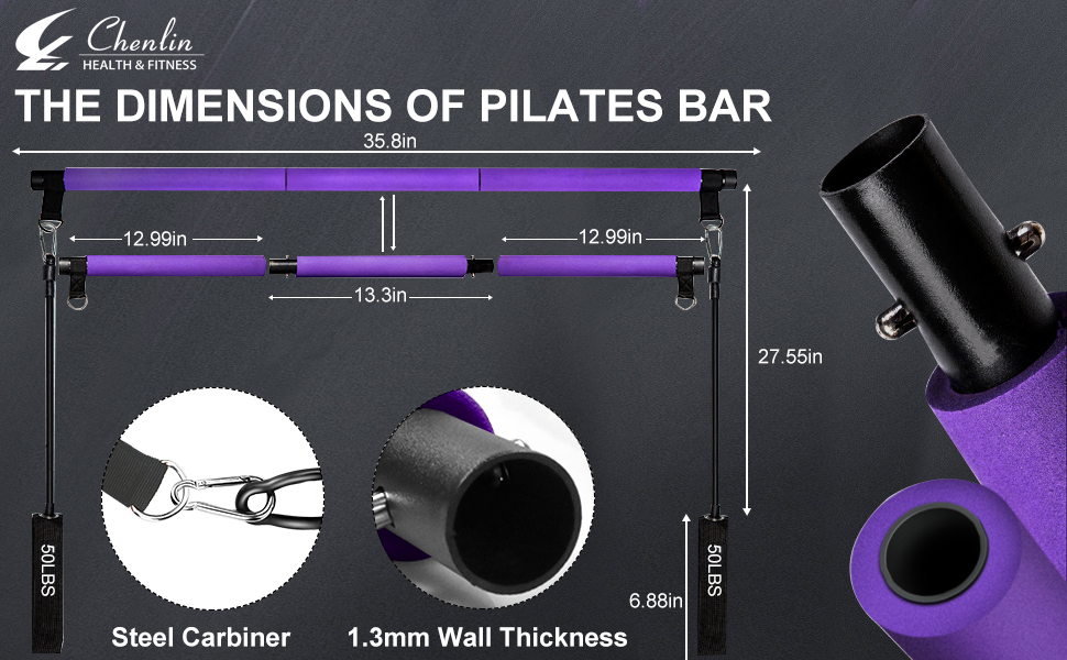 The size of pilates bar