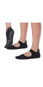 Tavi Noir Women's Emma Non-Slip Socks 2 pack, Ebony