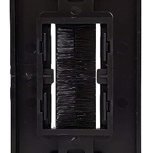 Back View of Dual Gang Black Brush Wall Plate