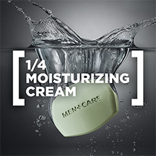 Dove Men+Care Body and Face Bar Soap Extra Fresh is made with  ¼ moisturizing cream.