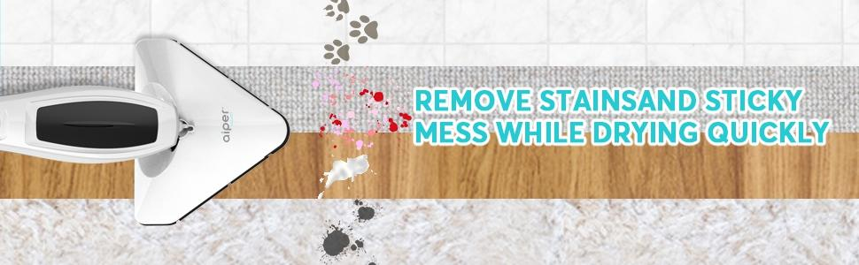 remove stainsand sticky