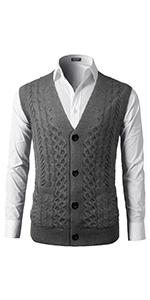 men knit vest sweater