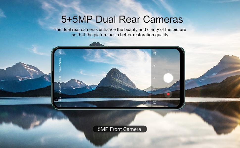 5+5MP Dual Rear Cameras