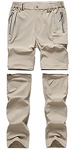 Trousers for Men Zip Away Pants Work Athletic Cargo Tactical